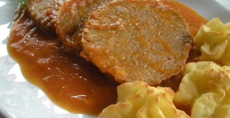 redondo de ternera en salsa española