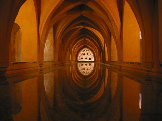 Antiguos Baños Arabes Granada:Baños Árabes en Granada