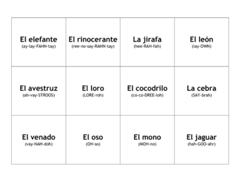 Learning Different Types of Spanish Games