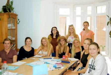 Una de las clases del grupo de Oslo