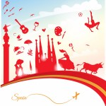 spain-travel-background-with-flag-2