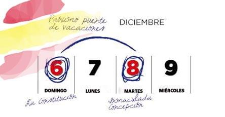 Calendario puente