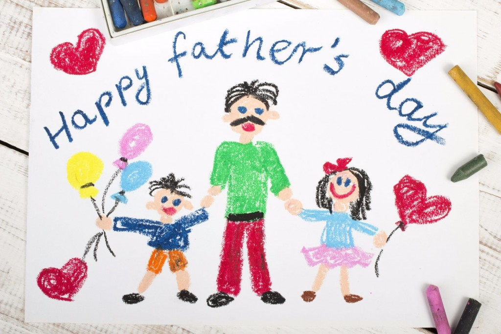 Happy fathers day card made by a child