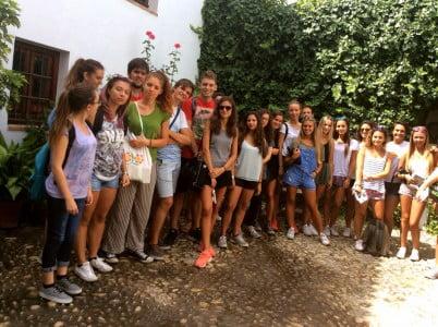 Foto grupo en casa museo Lorca