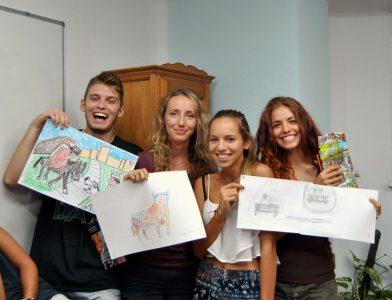 Ganadores del concurso de grafitis