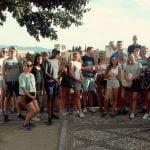 Grupo en el mirador de San Nicolás