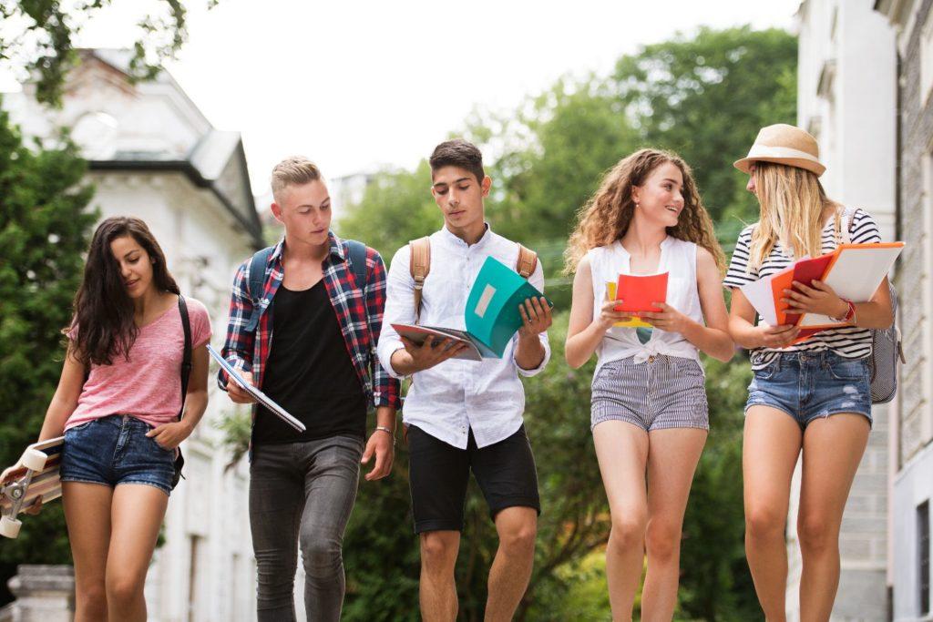 Group of Spanish teenage Student in Granada