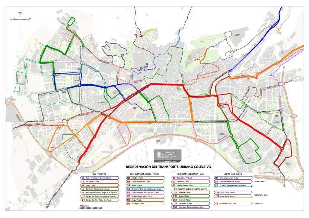 New urban bus lines in Granada New urban bus lines in Granada