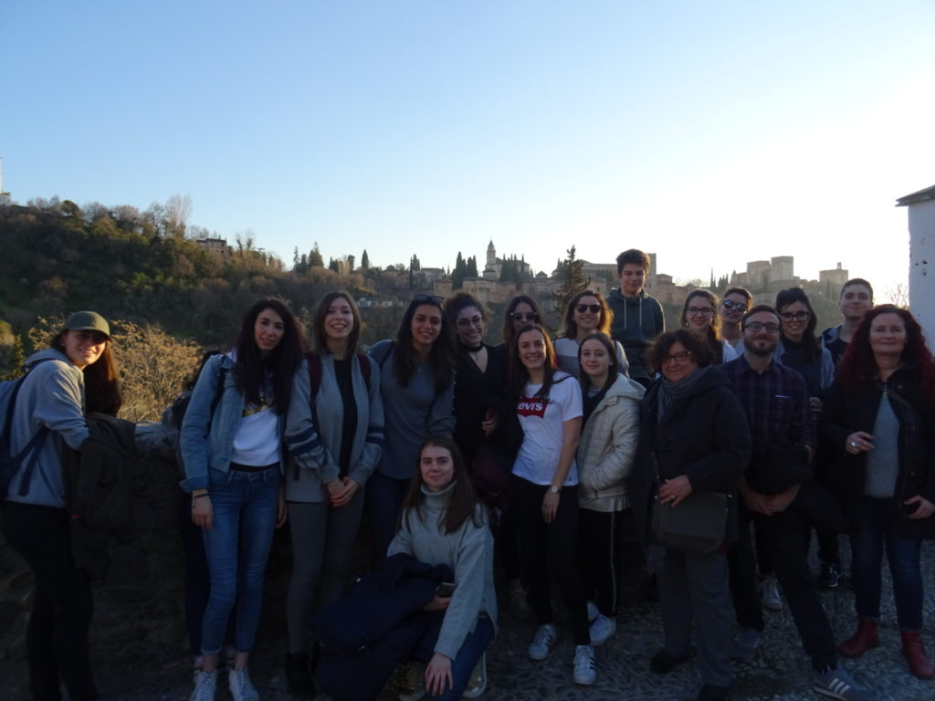 ittalian students in granada
