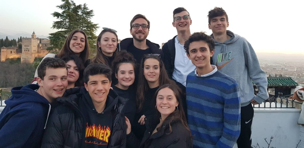 Italian students in granada