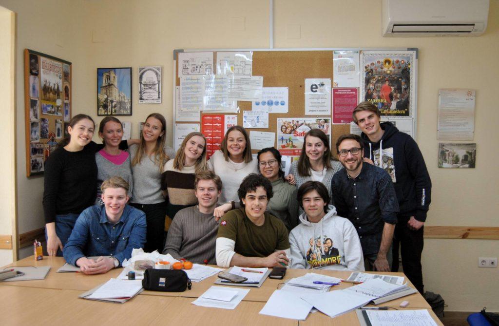 estudiantes noruegos en Granada