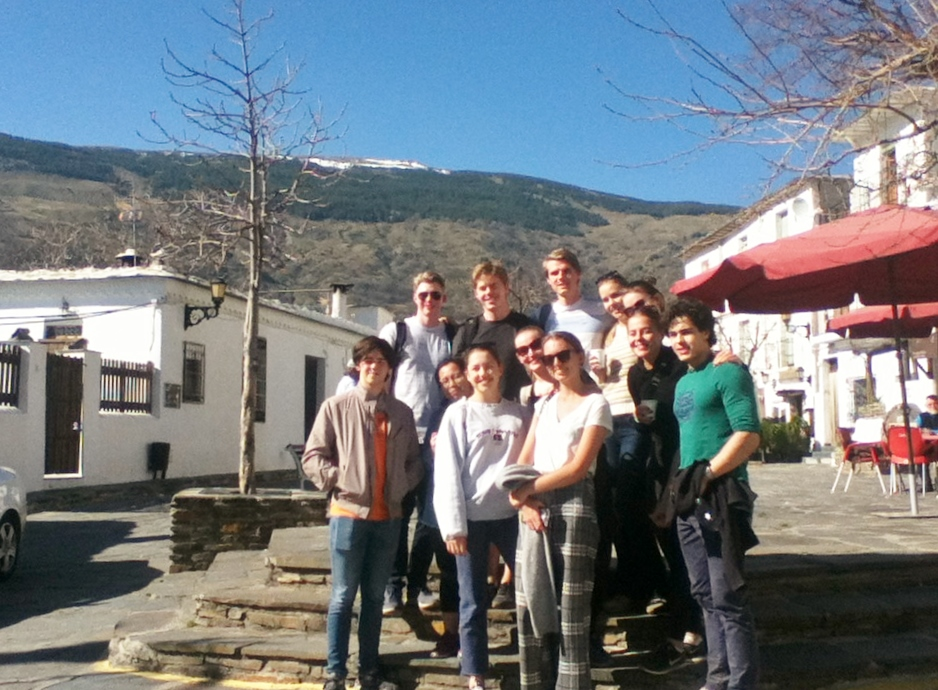 estudiantes noruegos en Sierra Nevada