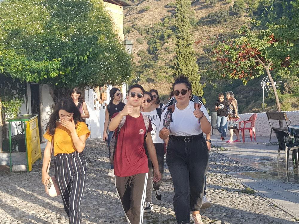 Paseo por el Sacromonte | Curso de español para italianos en Granada