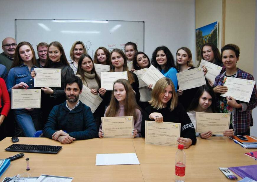 Cursos de español para grupos 2019 | Grupo de estudiantes de Kazan