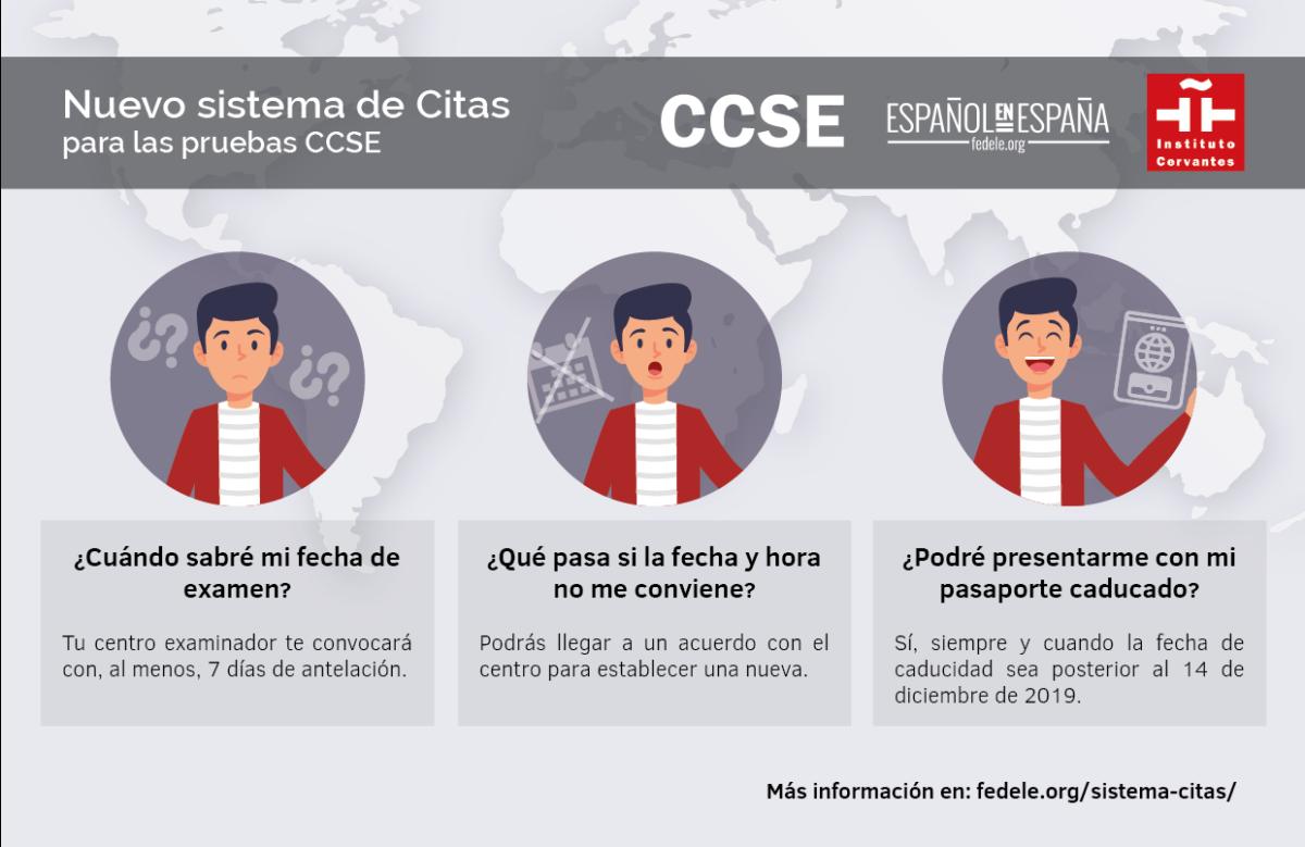Nuevo sistema de citas para CCSE