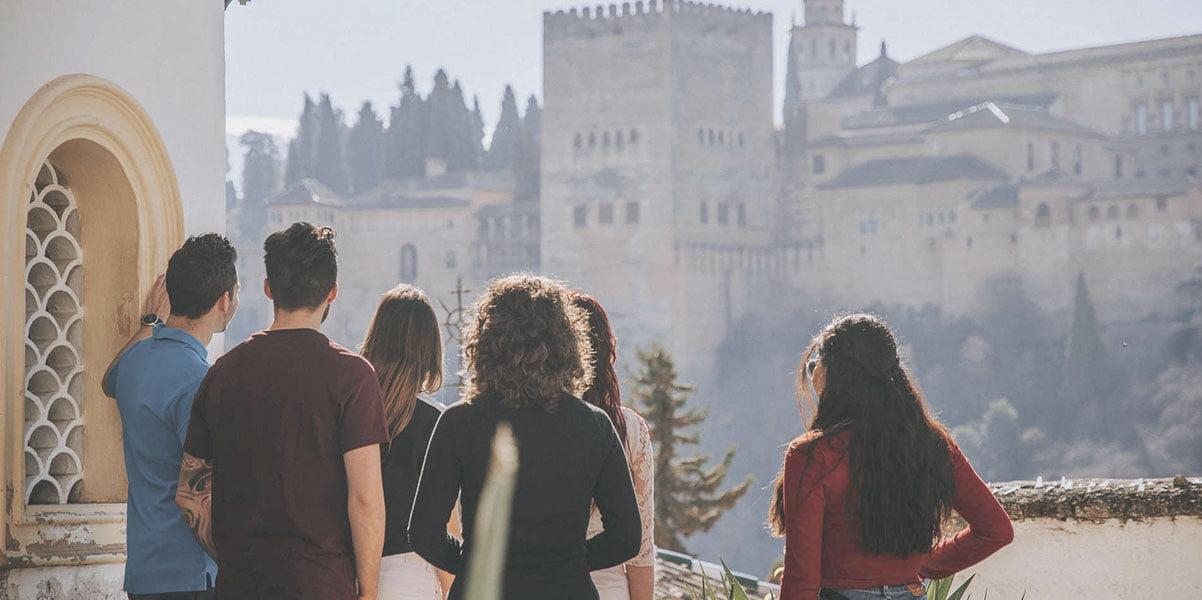 Tourists in Granada