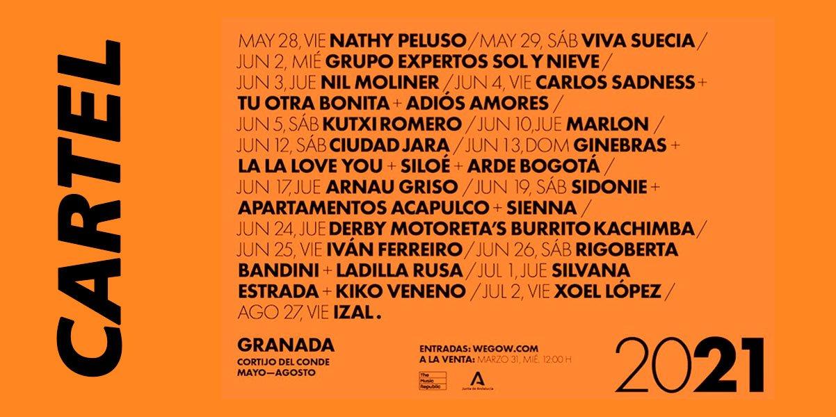 Cartel Concerts Granada Alive 2021